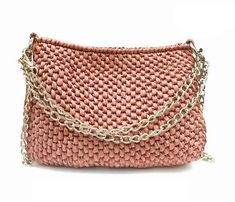 Crocheted bag purse clutches shoulder bag by auntieshirley on Etsy, $69.00