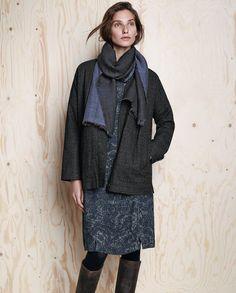 viscose wool dress