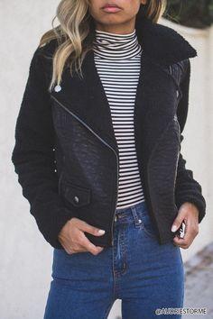Fleece-Lined Moto Jacket | Forever21