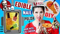 DIY EDIBLE KFC Nail Polish | EAT Fried Chicken Flavored Nail Polish | Made With Real Fried Chicken!  https://www.youtube.com/watch?v=fH-zcVlaOtc