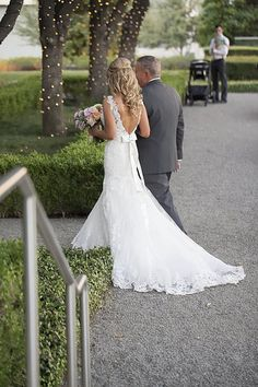 Wedding dress low back allure couture bridal