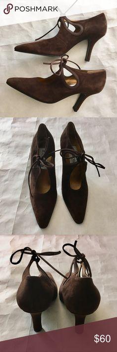 2dde7cbbbb79 NWT Rossimoda Sz 7N Brown Suede Tie Heels Rossimoda Suede Tie Heels  Chocolate Brown color Sz