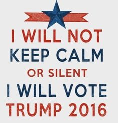 I SAYTHAT I'M VOTING FOR TRUMP ALL THE WAY TO THE WHITE HOUSE NO MATTER…