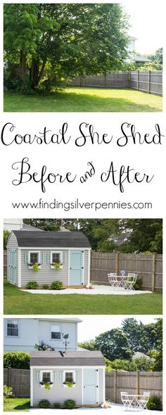 Coastal She Shed Before and After Exterior #sponsored