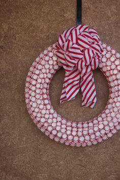 Peppermint Wreath