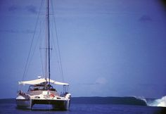 Sumatra Bohemian sitting in the channel.  #Yacht #Surf