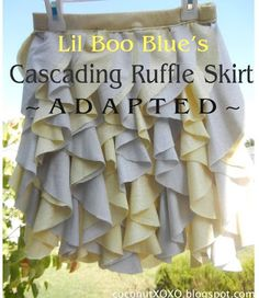 Coconut Love: Lil Boo Blue's Cascading Ruffle Skirt, Adapted