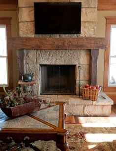 A fireplace may be a great add-on to a home. Besides being an excellent decorative element of the house, recently the fireplace is among the most attractive alternatives for heating. If you wish to create a fireplace which is not… Continue Reading → Rustic Fireplaces, Barn Beams, Home Fireplace, Wood Fireplace, Wood Fireplace Mantel, Home Decor, Rustic Fireplace Mantels, Fireplace, Rustic House