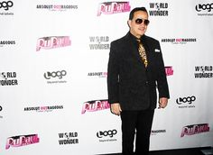 Anthony Rubio at RuPaul's Drag Race finale party with cast in New York.