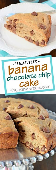 Start your day off right with this Lightened Up Banana Chocolate Chip Breakfast Cake. It's a delicious, HEALTHY choice without all the refined sugars!