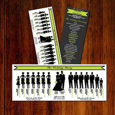 Wedding Party Silhouette Clip Art Program X