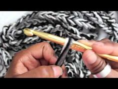 """Super cute video tutorial for making a crochet rope scarf. I am sooooo making one of these tonight while watching the t.v.  I just love how cute she is and she explains everything well.  Love the """"what's up Home Skillets"""" line with her cute accent :)"""