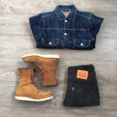 Outfit grid - Denim & boots