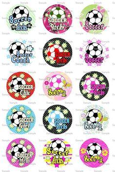 Soccer Rocks 6 Bottle Cap Images 4x6 Bottlecap by designsbyPM, $2.00