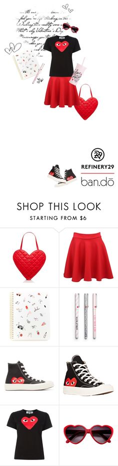 """""""Upgrade Your Chic With Refinery29"""" by leslee-dawn ❤ liked on Polyvore featuring Kate Spade, Pilot, Play Comme des Garçons, Comme des Garçons, ban.do, women's clothing, women, female, woman and misses"""
