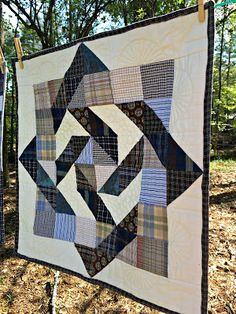 Newest Photographs memory Quilting Ideas Studio Dragonfly: Two tutorials – Quilts from Shirts Man Quilt, Boy Quilts, Scrappy Quilts, Flannel Quilts, Plaid Quilt, Shirt Quilts, Shirt Pillows, Striped Quilt, Big Block Quilts