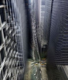 beautiful and vertigo inducing photo of New York City by Spanish photographer Alfonso Zubiaga create a sense of movement through clever Photoshop trickery.