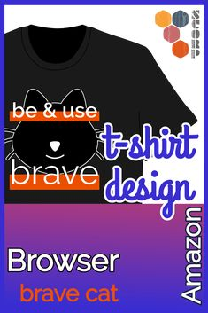 Sicherheitsexperten und Programmierer benutzen immer öfter den neuen Browser brave.  T-Shirt: Amazon.de und Amazon.com. #software #browser #internet #security #amazon #t-shirt T Shirt Designs, Brave, Lion Cat, Internet, Sweatshirts, Cats, Fashion, Computer Science, Amazing