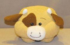 "Animal Adventure Tan Brown Block Heads Cow Bull 8"" Plush Stuffed Toy 2010 L3255 #AnimalAdventure"