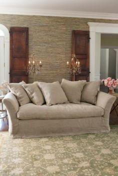 Cote D'azur Sofa - Throw Pillow Sofa, Deep Sofa, Linen Slipcover Sofa   Soft Surroundings