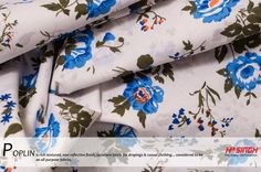 BEAUTIFUL POPLIN FABRIC... #rich #textured #draping #casual #clothing #allpurpose #floral #printed #solids #men #women #kids #apparel #home #furnishing #cotton #silk #cool #comfortable #breathable #durable #breathable #smooth #texture #sport #shirts #uniforms #dresses #crisp #uniformity