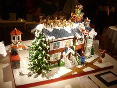 Competition entry, created by Maria L. Webster, Gingerbread City 2010, in San Diego, CA.  Depiction of Tim Allen's movie, The Santa ClausE