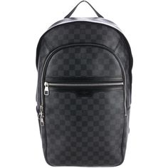 Pre-owned Louis Vuitton Damier Graphite Michael Backpack ($1,895) ❤ liked on Polyvore featuring men's fashion, men's bags, men's backpacks, black, mens backpack and louis vuitton mens backpack