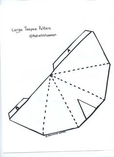 Pin by muse printables on printable patterns at for Teepee craft template