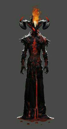 "Demon-Demonic Being-Cursed Being. Find more on the ""Creativity+Fantasy"" board. Dark Fantasy Art, Fantasy Artwork, Dark Art, Fantasy Demon, Demon Artwork, Character Concept, Character Art, Concept Art, Illustration Fantasy"