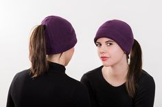 Purple Ponytail Hat - Order today by visiting: http://www.doohat.com
