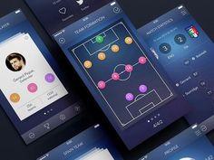 dashboard soccer material design - Pesquisa Google