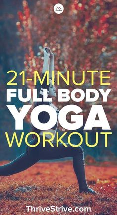Here is a 21-minute full body workout that is great yoga for beginners. It is also a great way to build flexibility with yoga. #yogaforbeginnersflexibility