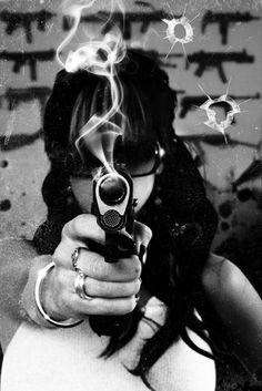 pinterest.com/fra411 #girl #gun bangbang ...your dead