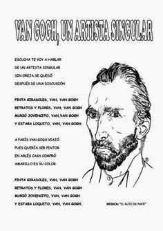 Vincent Van Gogh, Arte Van Gogh, Art For Kids, Coloring Pages, Drawings, Project, Dali, Zentangles, Chocolate