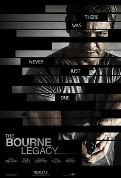The Bourne Legacy... It looks so cool & it will be great to see how all these great actors make it their own...And it releases on my B-day;-)