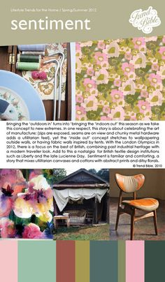 """""""In 2009 Trend Bible predicted that Sentiment would be a key trend in Spring/Summer 2012, and as forecast, this nostalgic trend is exploding ahead of the Olympics and the Jubilee this summer,"""" writes Vicky Bullett, Editorial Assistant at mydeco.com."""