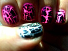 i love how they look like pink lava....you got to love crackle nail polish