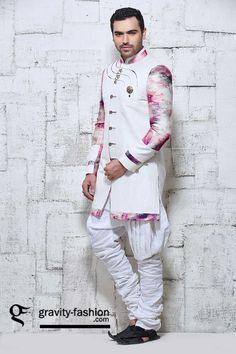 simple and stylish sherwani for wedding 2015 & 2016, latest jacket style festive shervani 2015