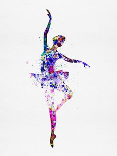 Ballerina Dancing Watercolor 2 Poster by Irina March 13 x This versatile and affordable poster delivers sharp, clean images and a high degree of color accuracy. Your poster is printed with an offset lithography press with a coating to protect the inks. Art Ballet, Ballet Dancers, Ballet Painting, Dance Photos, Dance Pictures, Dance Images, Dance Paintings, Watercolor Paintings, Watercolor Dancer