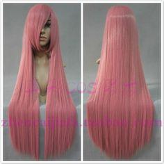 Trajes Cosplay peluca de tabaco en Polvo de Color de pelo liso negro dama 100cm onrabbit ruka cos