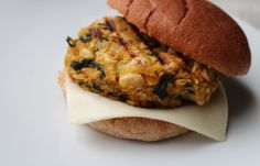 White Bean and Kale Burgers - minus chicken broth - how odd!!