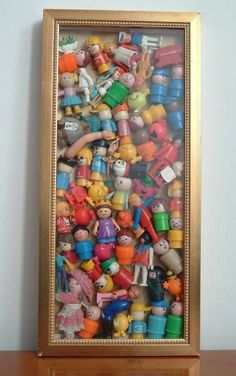 Shadow box for fave toys that they no longer play with for fun art