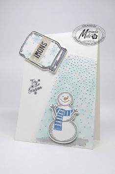 Stampin Utopia Bestel Stampin' Up! Hier: Frosty...WOW TAMI WHITE CASED MY CARD! love jar, snow place, softly falling, peaceful pines, tami white, Tami White tutorial, case,