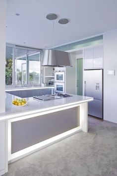 modern u-shaped kitchen