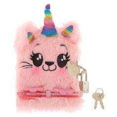 Claire's Club Claire the Bunny Lock Soft Notebook Claire's Accessories, Natural Hair Accessories, Games For Girls, Toys For Girls, Unicorn Fashion, Fantasias Halloween, Cute Notebooks, Pink Faux Fur, Small Backpack