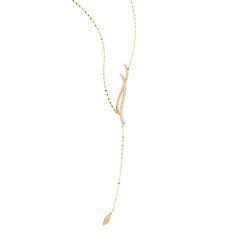 """Lana Jewelry, collier """"Expose Wavelangth lariat"""" en or et diamants"""