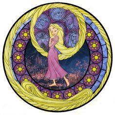 Rapunzel's Stained Glass Window