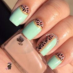 love the aminal print  mint