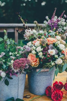 14 Tremendous - Majestic Wedding Photography Ideas : Fetching assorted flowers on gray metal bucket Flower Images, Flower Pictures, Deco Floral, Exotic Flowers, Colorful Flowers, Flora Flowers, Lotus Flowers, Seasonal Flowers, Tulips Flowers
