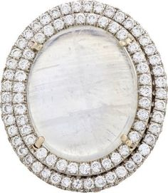 Irene Neuwirth Diamond Collection Diamond, Rainbow Moonstone & White Gold Ring